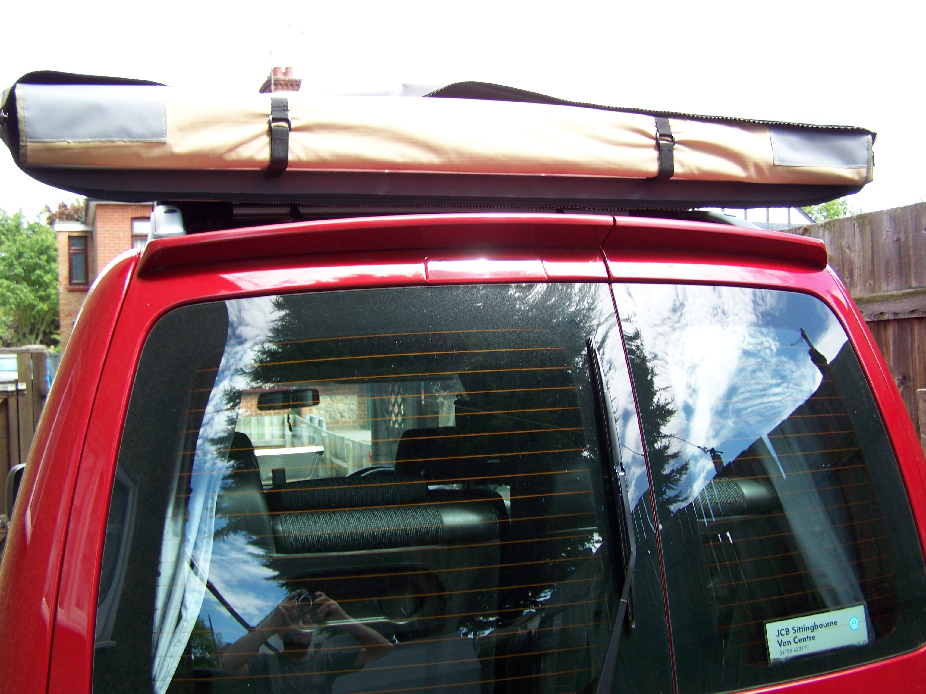 Vw Caddy Solar Camper Roll Out Awning Rolled Back In To