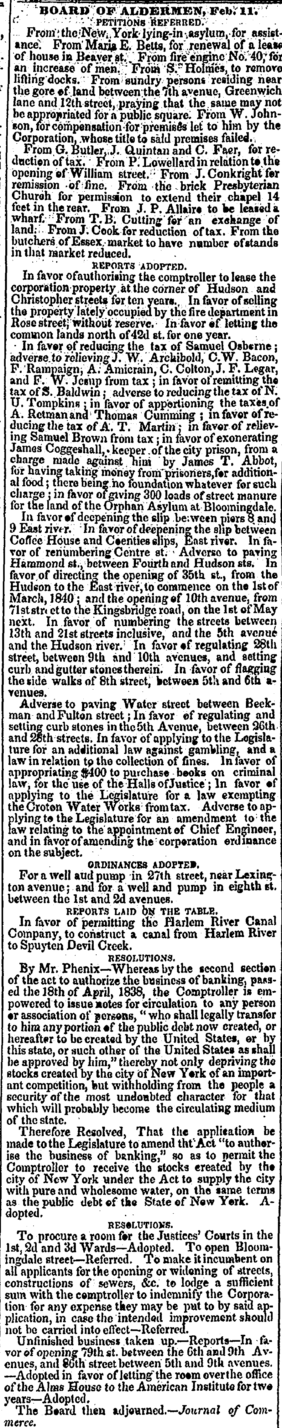 1839. Petition to Alderman. Eng. 40 for an increase of men.