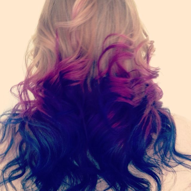 Someday Maybe Hot Pink And Purple Ombre Strawberry Blonde Hair