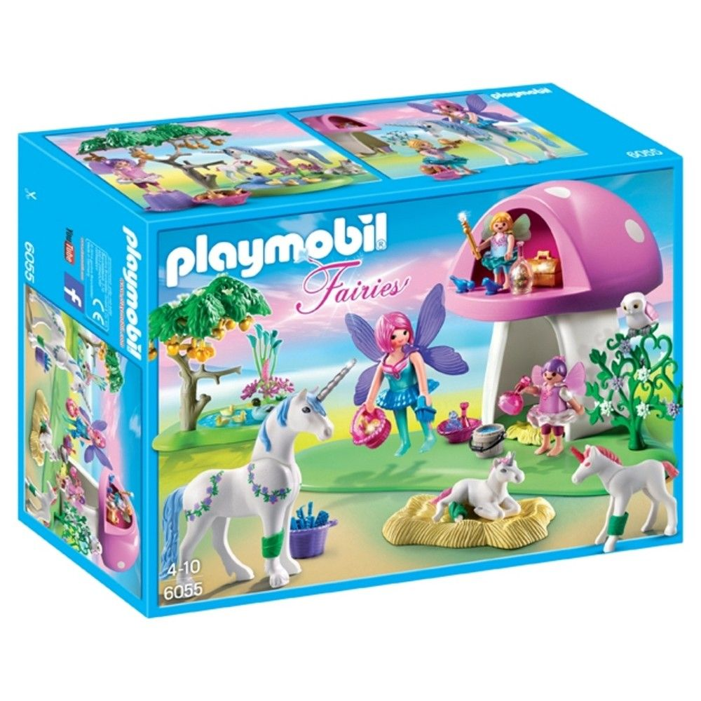 Playmobil Princess 5475 Magic Crystal Lake Playmobil Fairies With Toadstool House Multi Colored