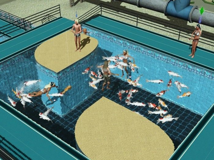Fish In Pools & Fountains by icarus_allsorts - Sims 3