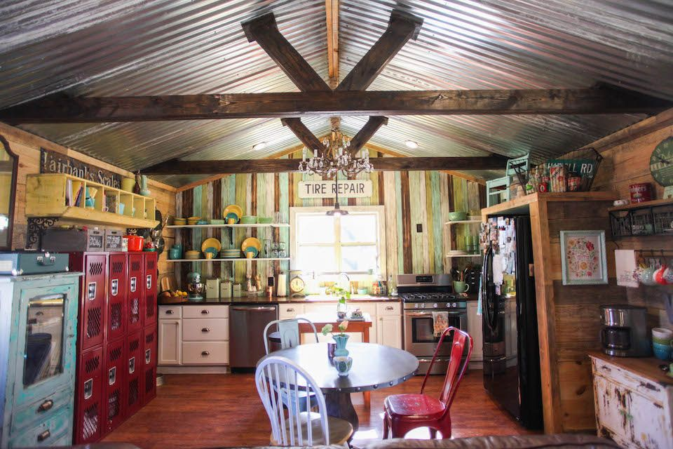 I Love The Inside Of This Small Home The Reclaimed Wood