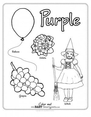 Color Purple Journal Coloring Pages Purple Color