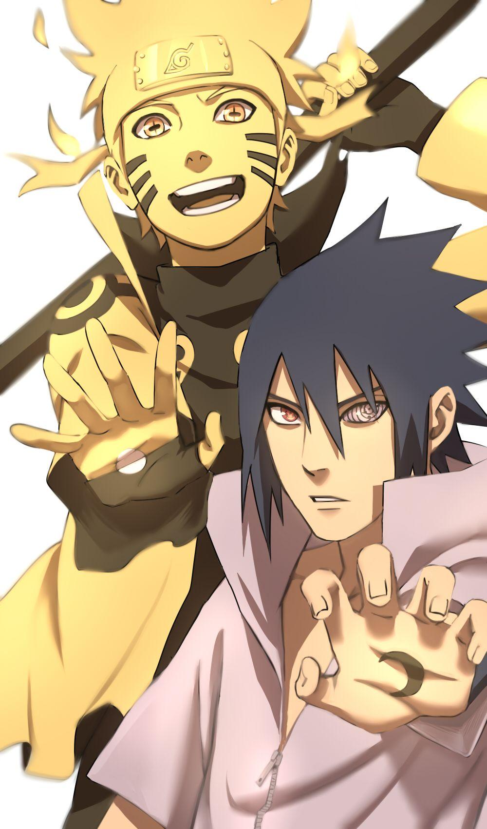Yin Yang Naruto Shippuden Anime Naruto And Sasuke Anime