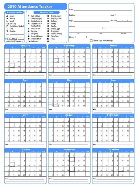 You\u0027re looking for Printable 2017 Employee Attendance Calendar, we - employee attendance sheet template free
