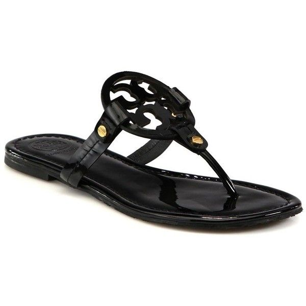 05d1af3ca1b Tory Burch Miller Patent Leather Logo Thong Sandals   These have been a  wish list item for a while!
