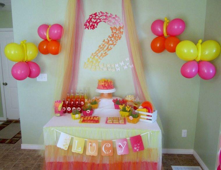 bonita decoracin de fiesta infantil Rosas Pinterest