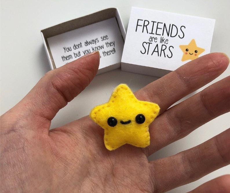 Star friend magnet gift, star magnet, cute gift, star in a box, bestfriend gift, pick me up gift, bff, best friend gift, valentine gift