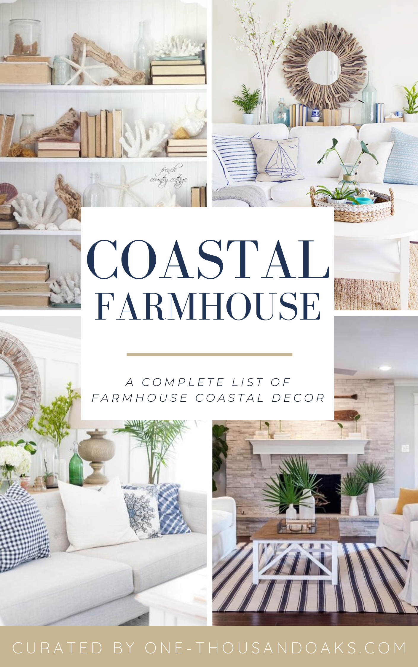The Best Coastal Farmhouse Decor On Amazon One Thousand Oaks Coastal Farmhouse Decor Beach House Living Room Farmhouse Decor Living Room