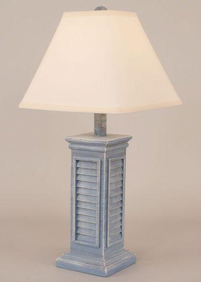Blue Shutter Table Lamp Coastal Decor Farmhouse Coastal Decor Beach Lamps