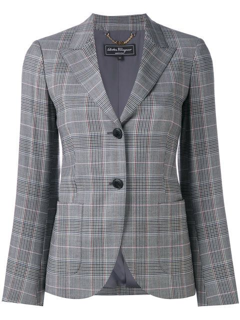84f7d4c8b94e SALVATORE FERRAGAMO Classic Plaid Blazer.  salvatoreferragamo  cloth  blazer