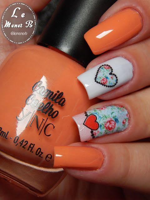 unha #decorada #decoração #nail #art #flores #flower #love #beauty ...