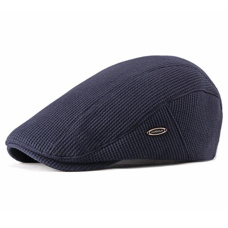 c6c47df9d92e6 Men Visor Knit Newsboy Beret Cap Cabbie Ivy Flat Hat in 2019 ...