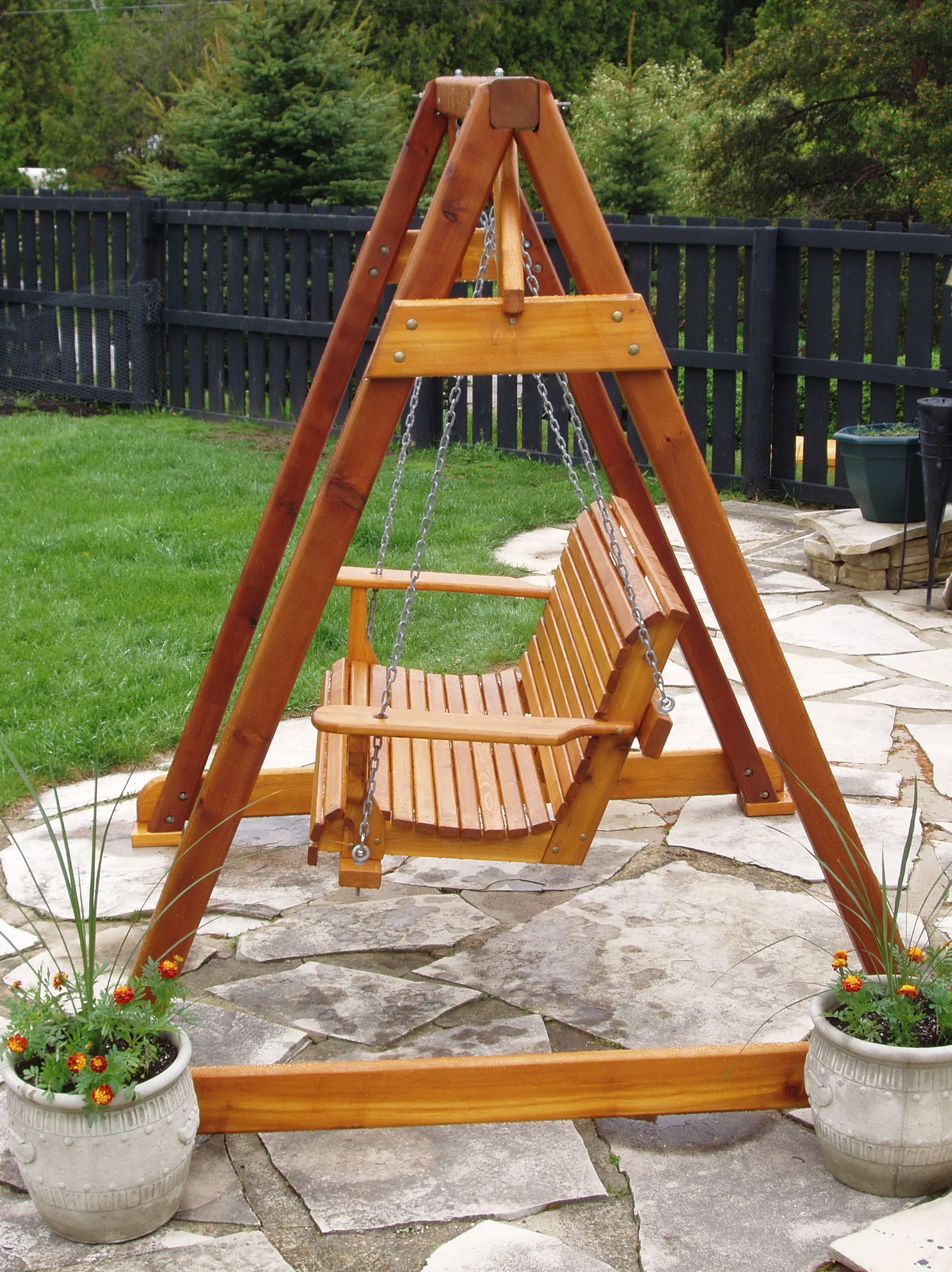 Porch Swing A Frame Plans Outdoor Wood Projects Diy Porch Swing