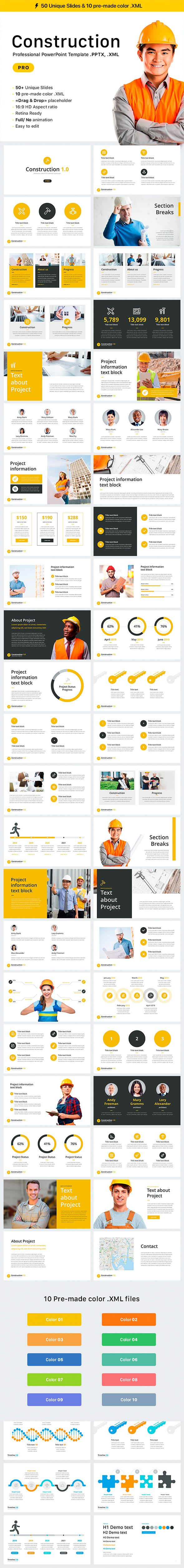 Construction Template Creative Powerpoint And Powerpoint