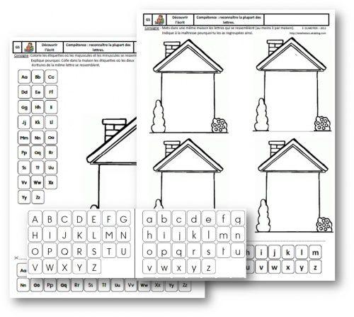 Ms gs cp apprentissage des lettres de l 39 alphabet - Lettres alphabet maternelle ...