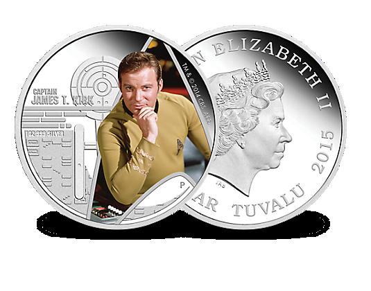 Die Star Trek Silbermünze Captain Kirk Mdm Deutsche Münze Mdm