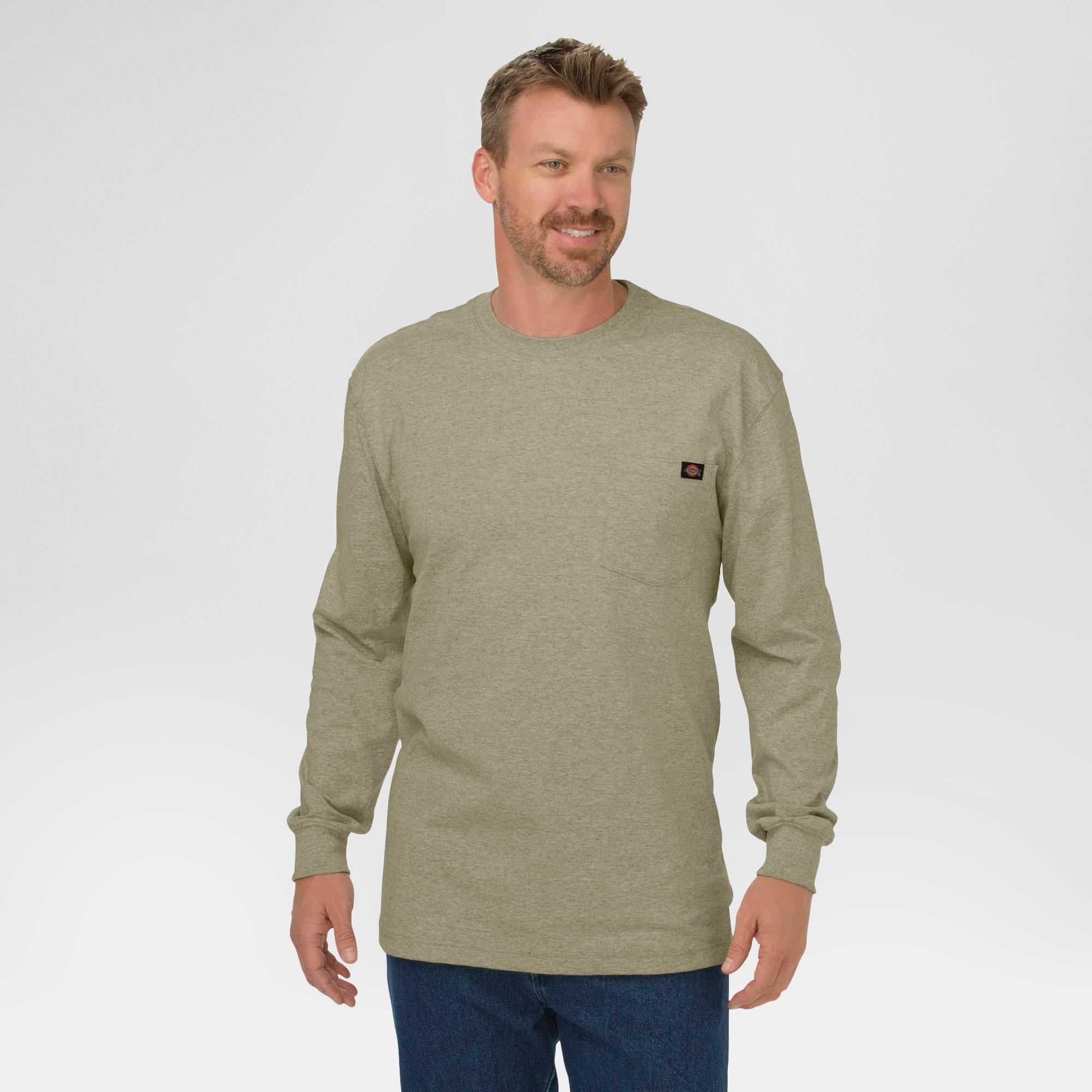 c8eaa67e1cfc Dickies Men's Big & Tall Cotton Heavyweight Long Sleeve Pocket T-Shirt-  Desert Sand XL Tall, Size: Xlt