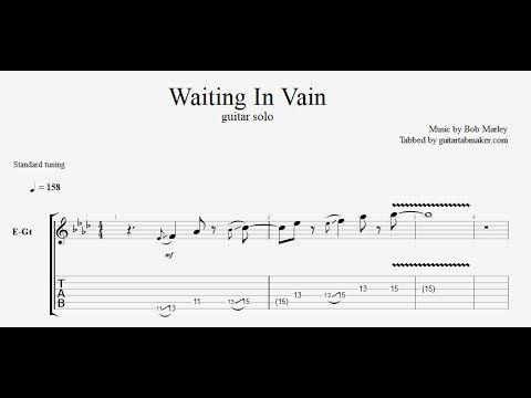 Bob Marley Waiting In Vain Solo Tab Pdf Guitar Tab Download