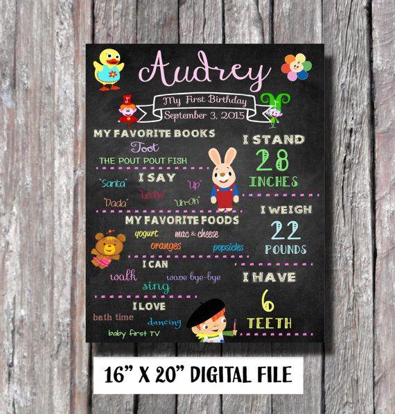 baby s first poster 16x20 babyfirst tv baby mine pinterest