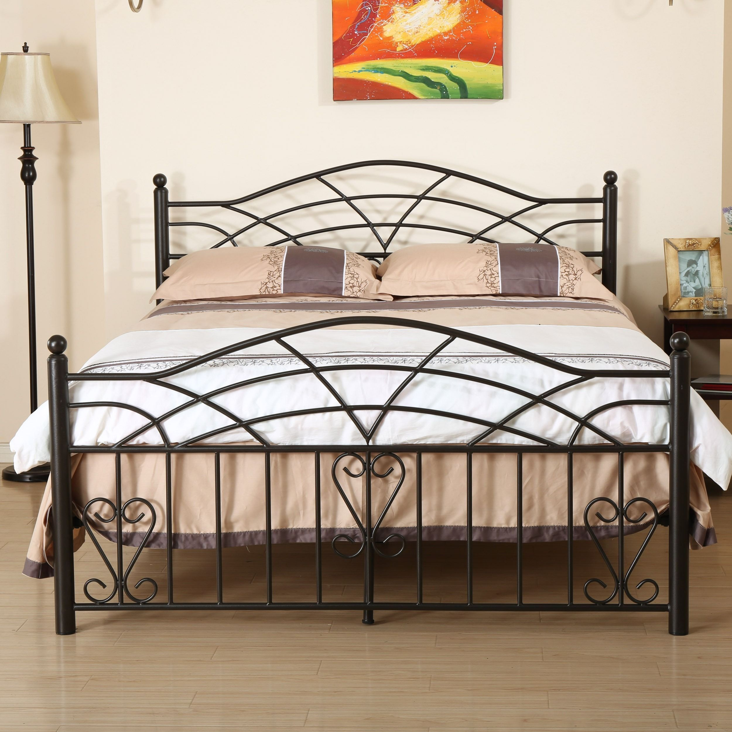 Brassfield Bed Frame By Christopher Knight Home Steel Bed Design