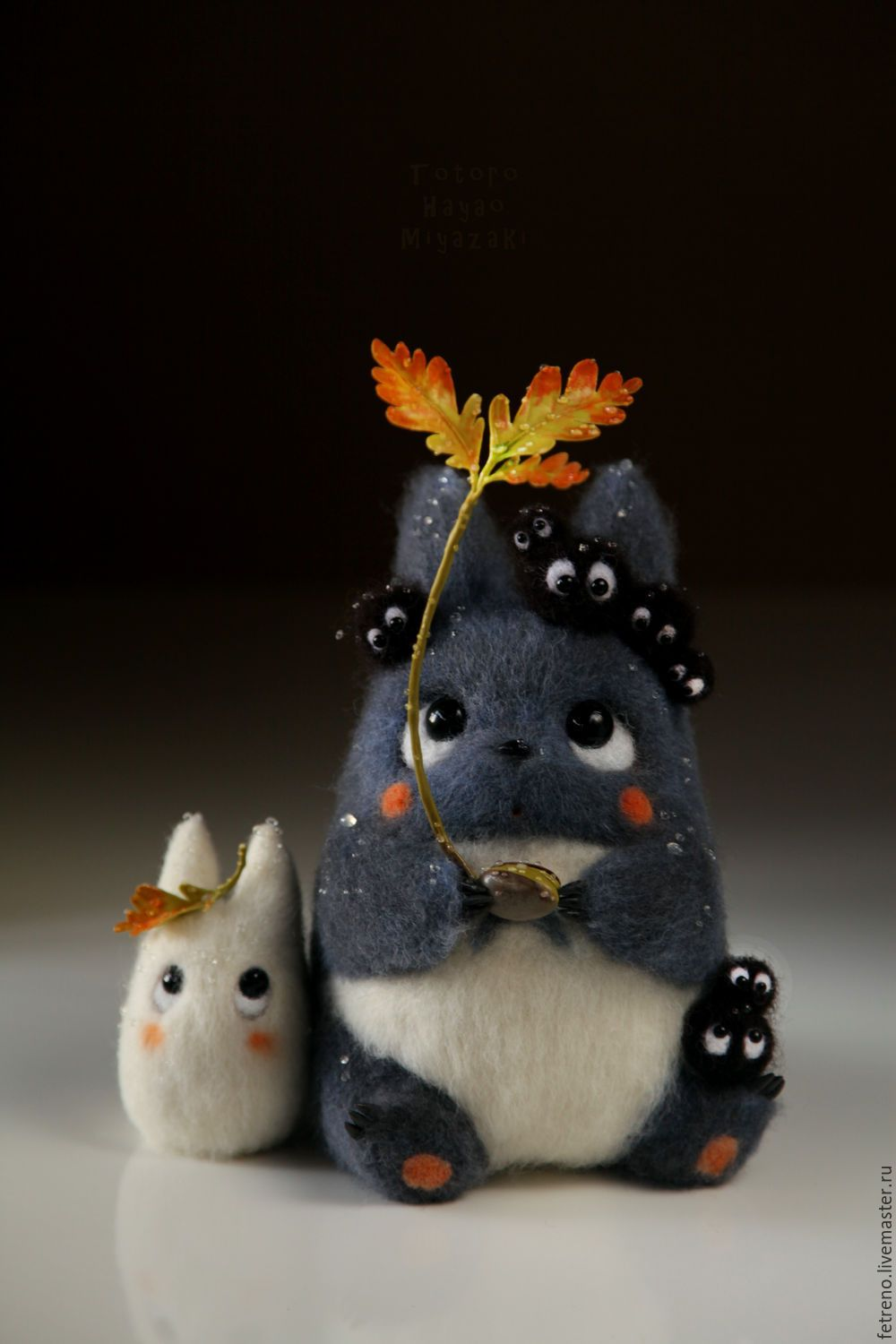 Cute felted Totoro. Amazing work by a russian artist. #felttoys