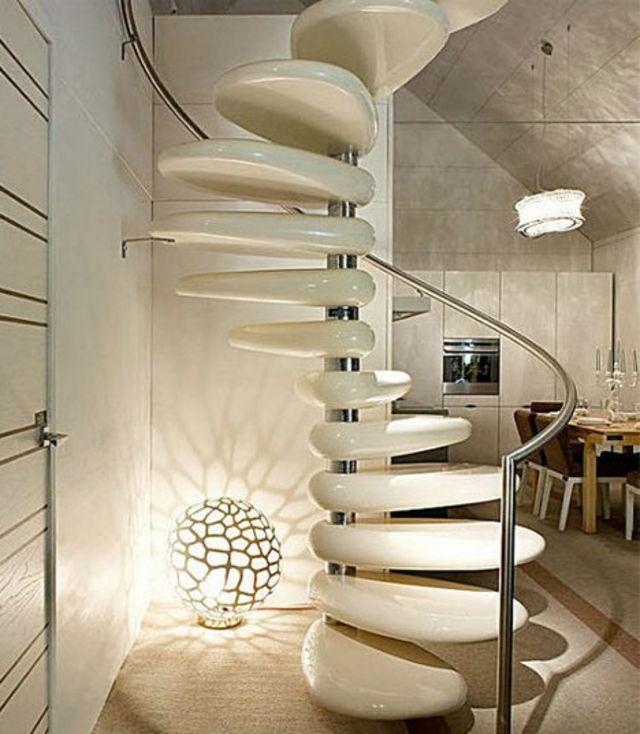 Design et chic pour cet escalier d\'intérieur | Impressionnant ...