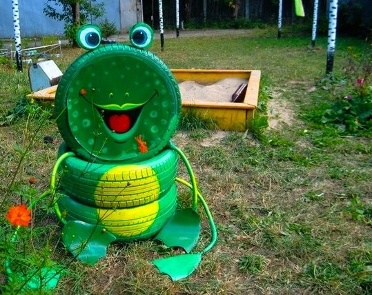 old tires can be easily repurposed into some pieces of furniture for your home or into some cool animal shaped garden decorations