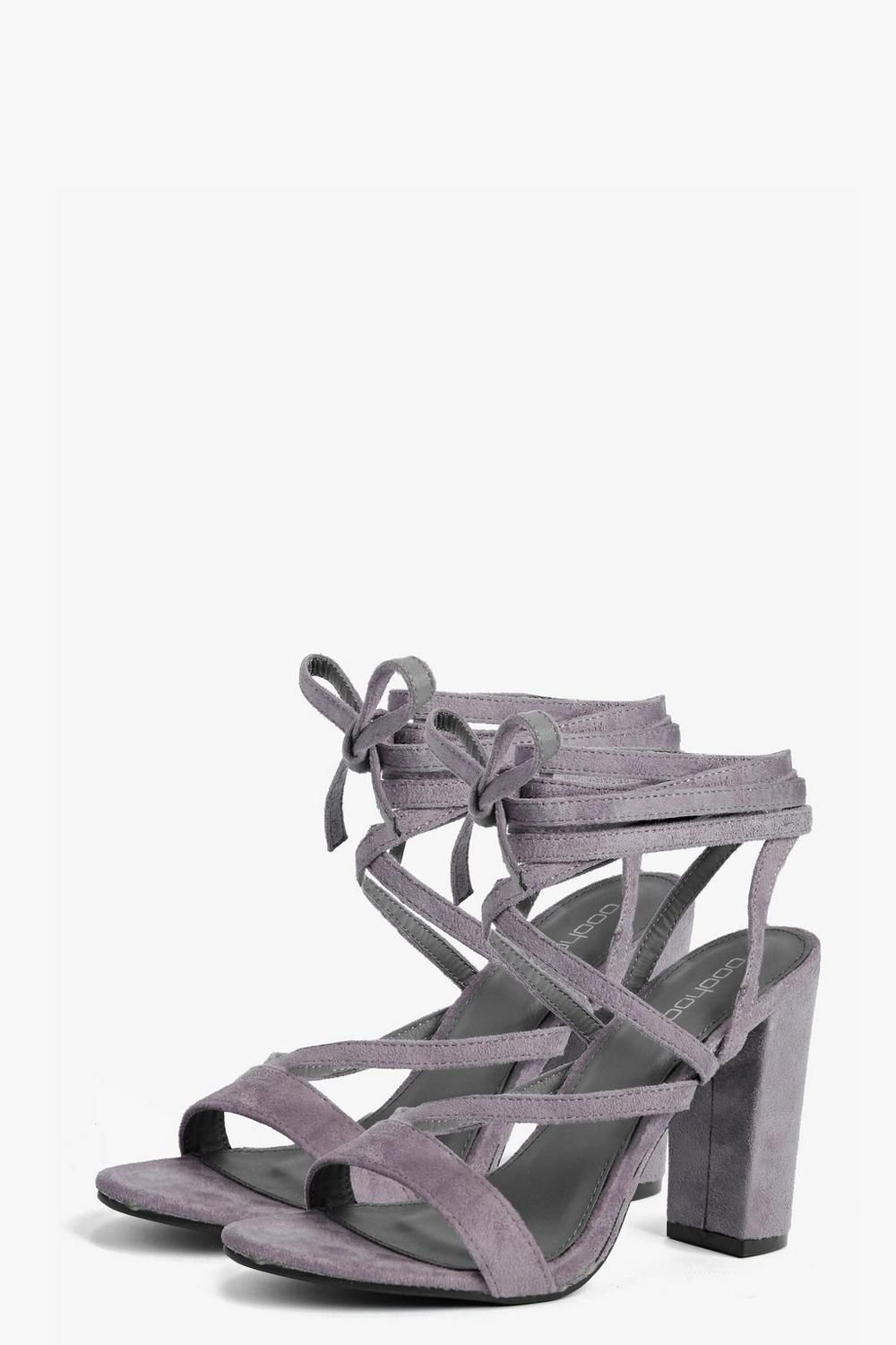 e7926363554c Bella Wrap Strap Two Part Block Heel