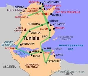 map of tunisia with cities - Google Search | MAPS | Africa travel ...
