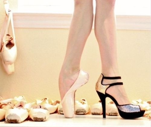 Ha!! I have been saying pointe shoes are more comfortable and less insane than most heels lately. Insane all around.