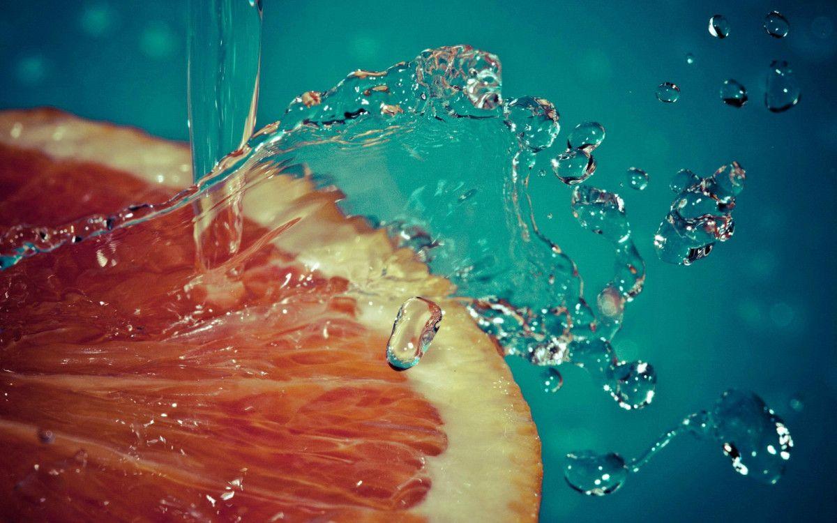 Pin On Study Of Food Hd wallpaper orange slice bubbles macro