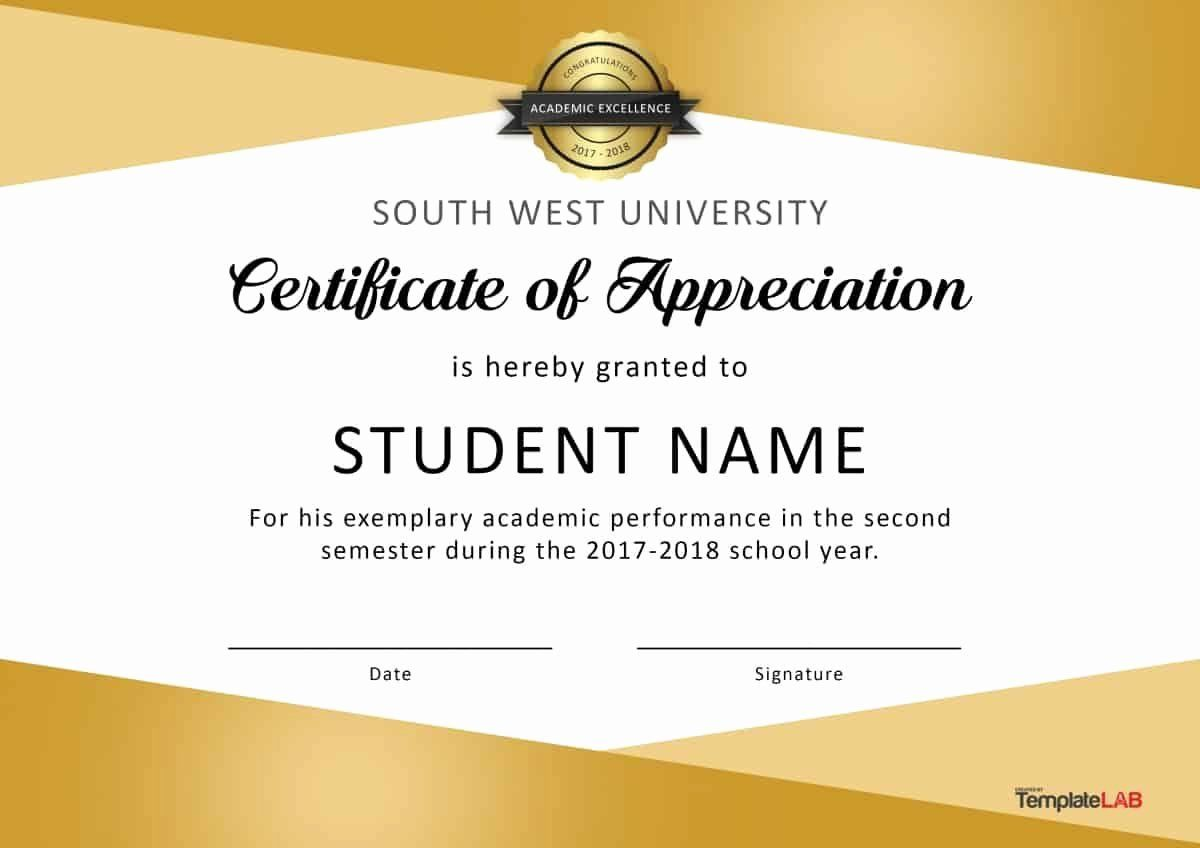 Sample Of Certificates Of Appreciation Lovely Download
