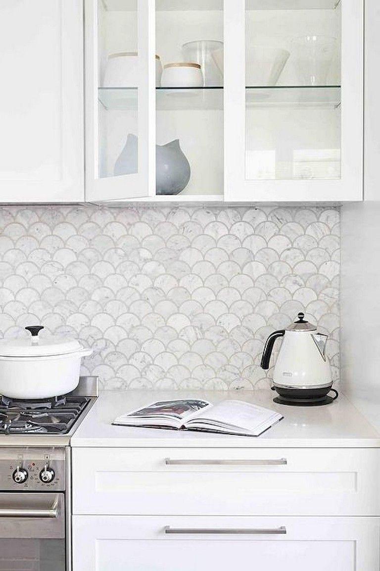 89 Elegant Kitchen Remodel Backsplash Tile Ideas White Kitchen Backsplash Fish Scale Tile Kitchen Tiles Backsplash