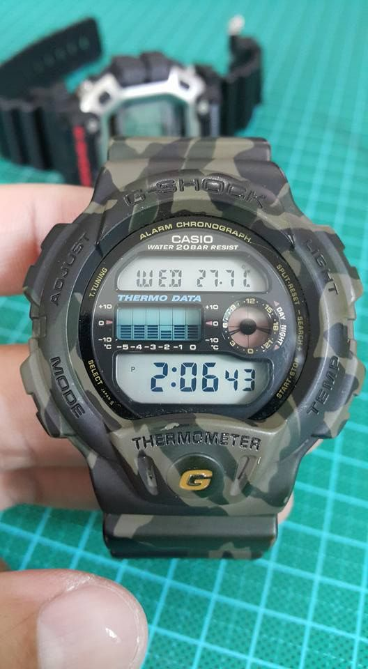 cc596ad1caa Live Photos  G-Shock DW-6100 Green Camouflage
