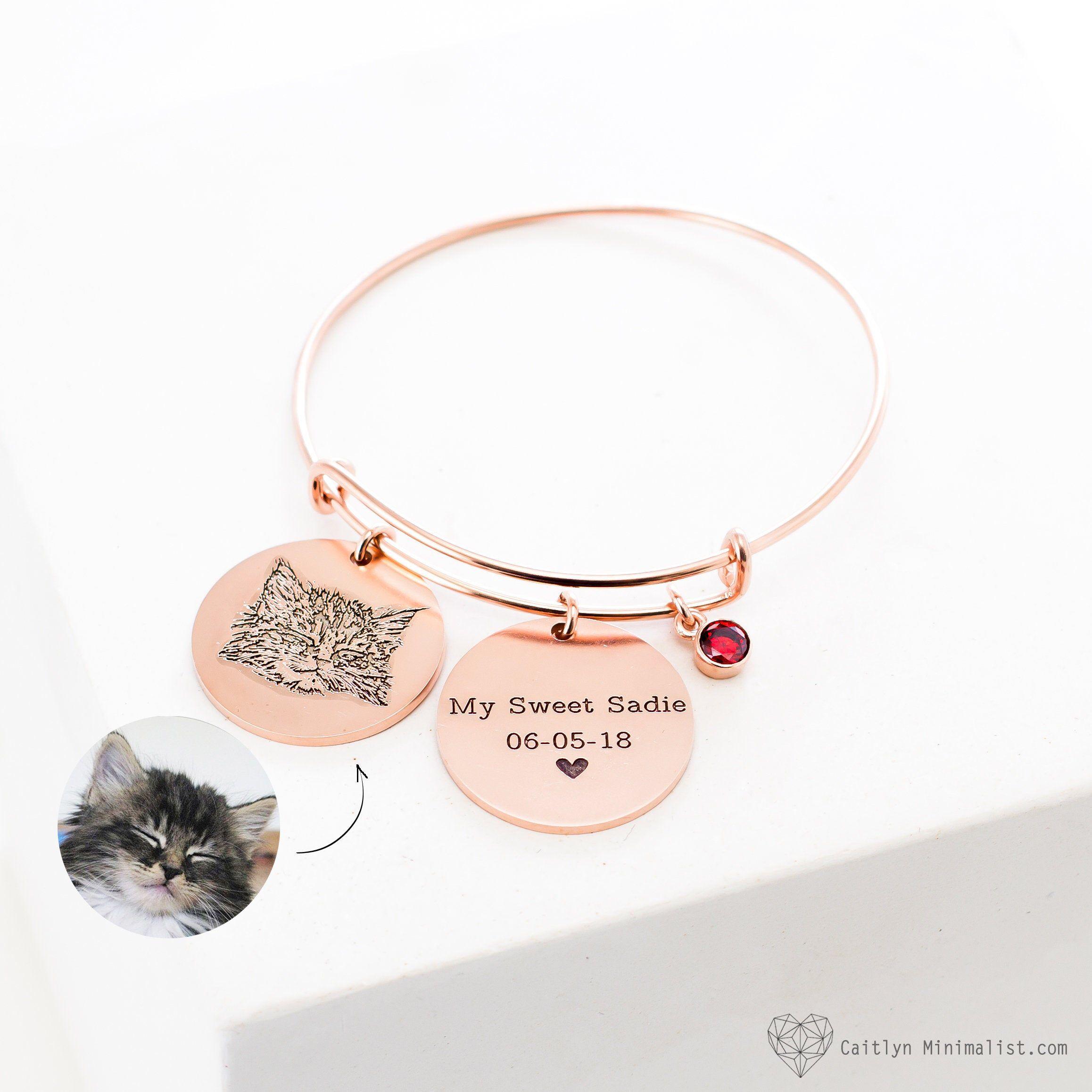 Your Pet Photo Bracelet • Actual Pet Picture Bangle • Cat