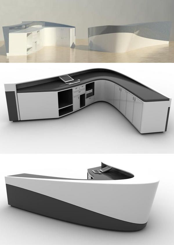 Reception desk inspiration interesting mount of the pc for Office counter design