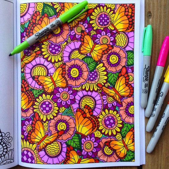 Adult Coloring Book Inkspriations Animal Kingdom