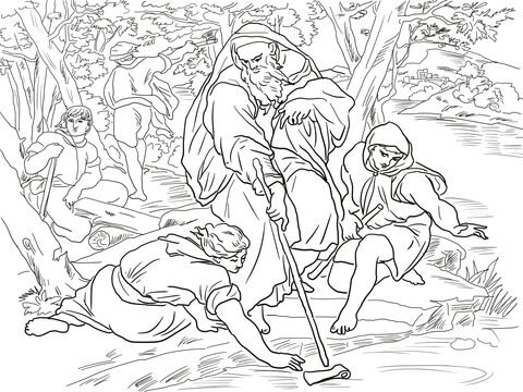 Elisha And The Floating Axe Coloring Page Coloring Pages Bible