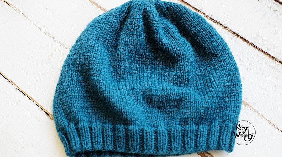 Un patrón sencillo, tejido con agujas y lana que todos tenemos, para ...