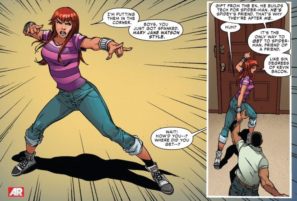 Mary Jane kicks butt in Superior Spider-Man #28 | Giuseppe