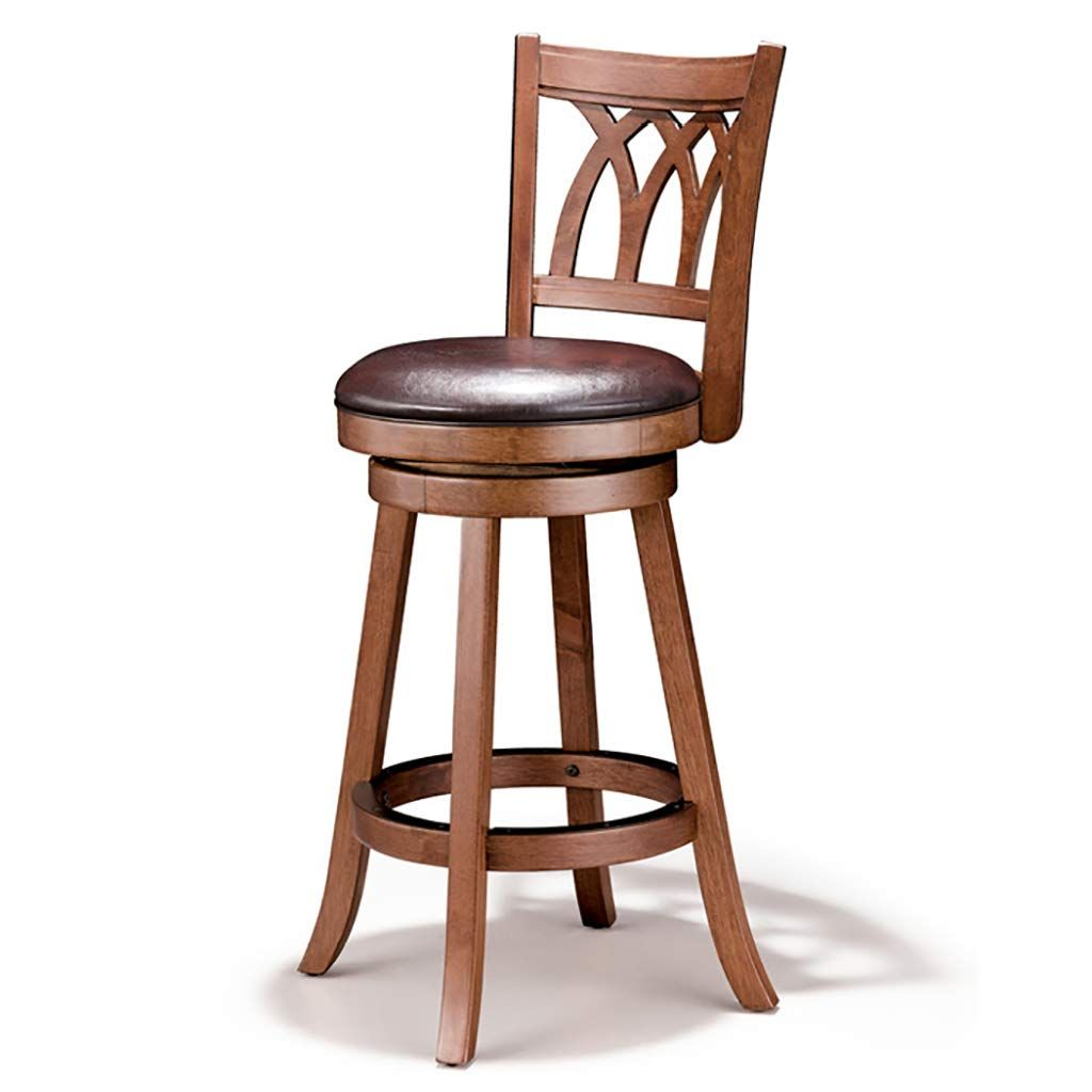 Mlx Solid Wood Bar Chair American Bar Stool Rotating Bar Chair