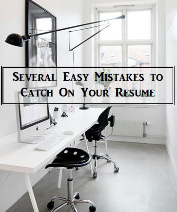 Several easy mistakes to catch on your resume CAREER Pinterest - top resume mistakes