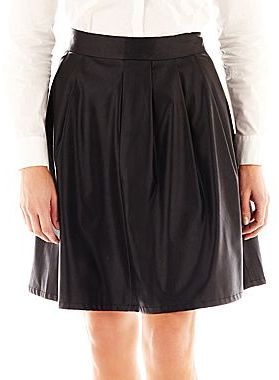 1cce1f67e2571 jcpenney Worthington® Faux-Leather Pleated A-Line Skirt on shopstyle.com
