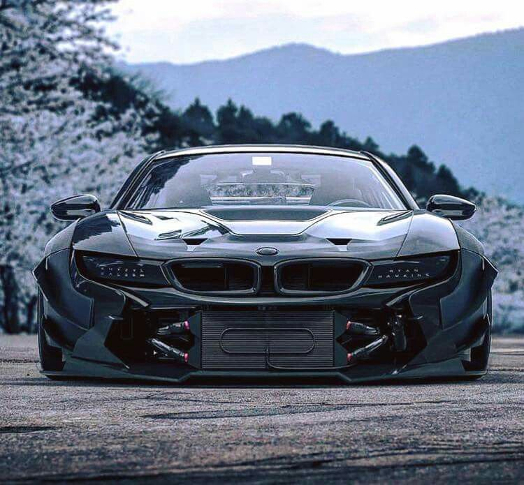 Bmw I8 Black Widebody Bmw Bmw Car Cars