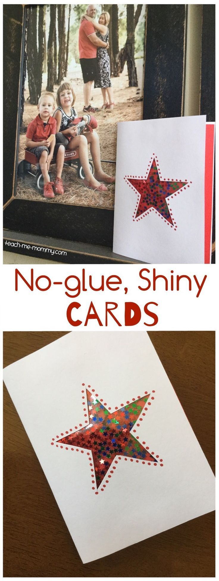 No-glue, Shiny Cards | Christmas For Families | Pinterest | Cards ...