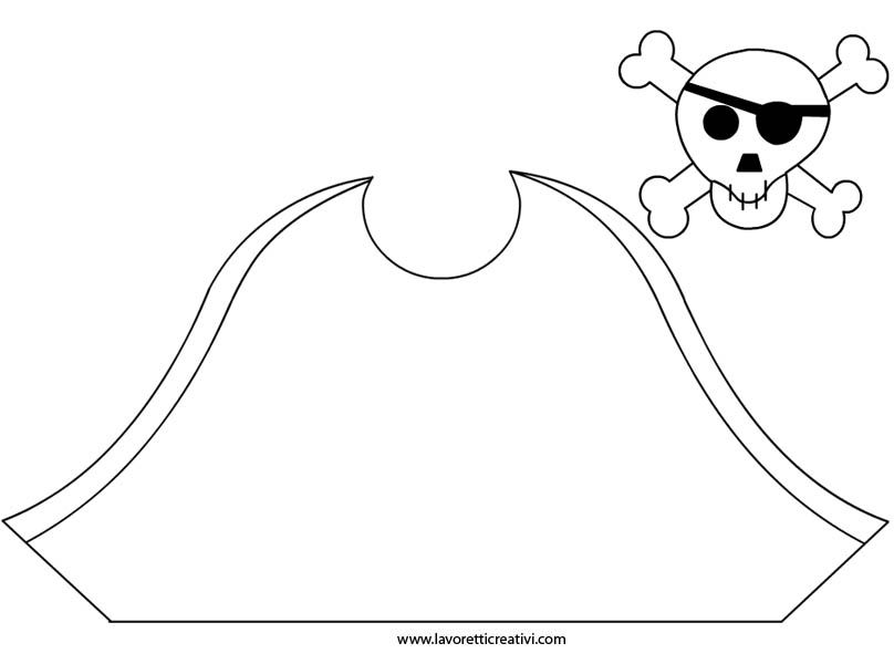 Cappello da pirata da ritagliare in carnevale  17cb007dc9fb
