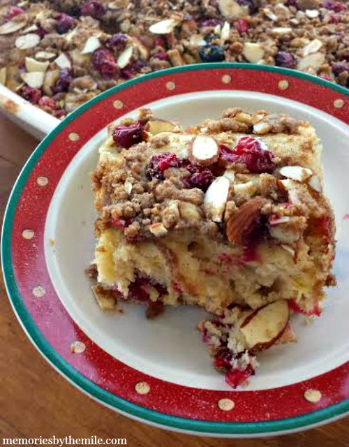 Cranberry Coffee Cake - Memories by the Mile (http://morselsoflife.com/five-friday-finds-166.html)