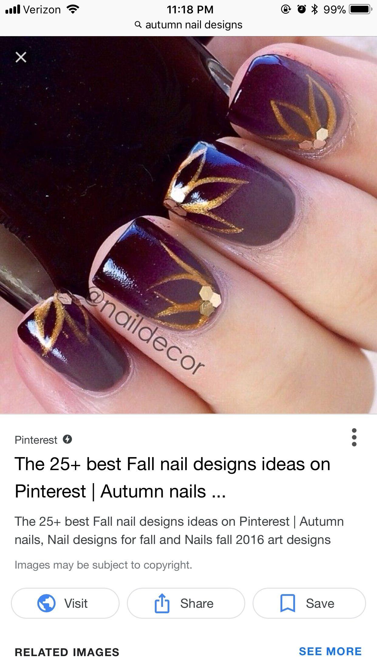 Pin By Jenny Kappes On Thanksgiving Autumn Nail Art Pinterest