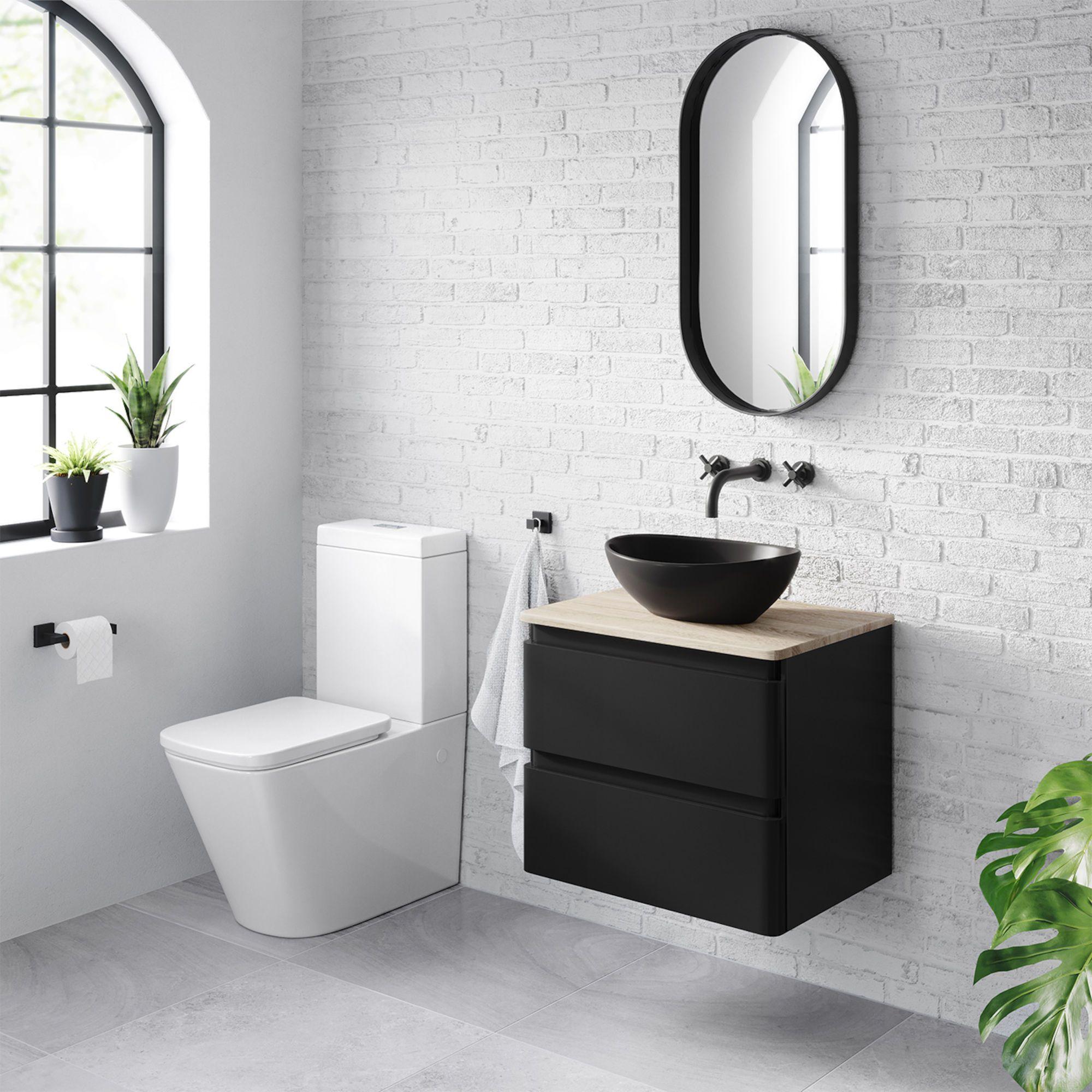 vanity black basin the bathroom design